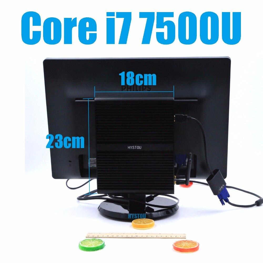I7 7500U Kaby Lake Intel Core i7 Barebone 8550U sin ventilador Mini PC Windows Linux HTPC TV Box 4K UHD Micro computadora de escritorio juegos