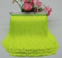 Ribete de flecos de 1 metro y 15cm de largo, borla, cinta para ajuste, cordón falda de baile latino, flecos para coser HG07