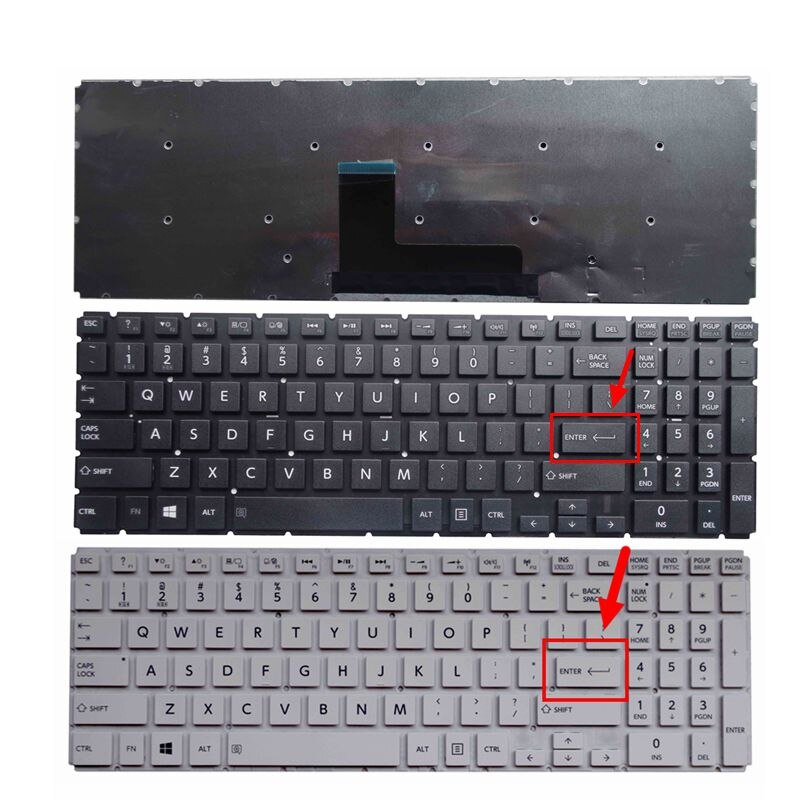GZEELE nuevo para Toshiba Satellite S50T-C L50-B L50D-B L55DT-B S50-B L55-B P50D-C S55-B inglés nos teclado