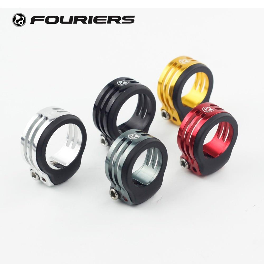Abrazadera de aleación Fouriers para SILLÍN de bicicleta CNC protege el sillín de carbono 31,8mm 34,9mm de goma impermeable