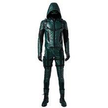 Flèche verte Oliver reine Cosplay Costume flèche verte saison 5 super-héros vêtements homme tenue Halloween Costume en cuir