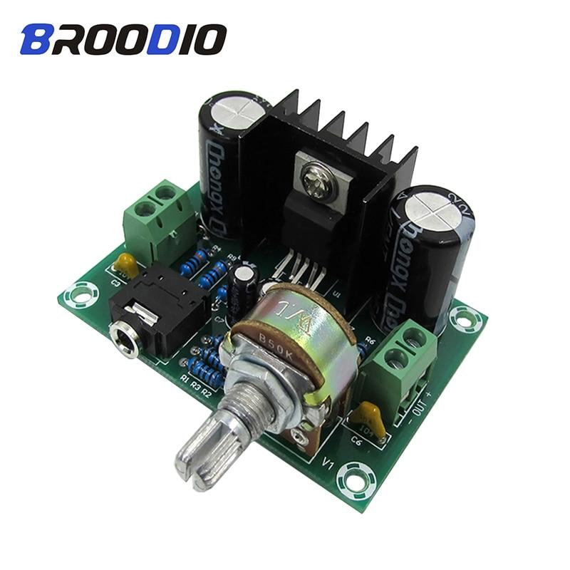 TDA2030A Placa de amplificador de Audio Mono 18W amplificadores de potencia DIY DC/AC 12V para sistema de sonido altavoz Home Theater