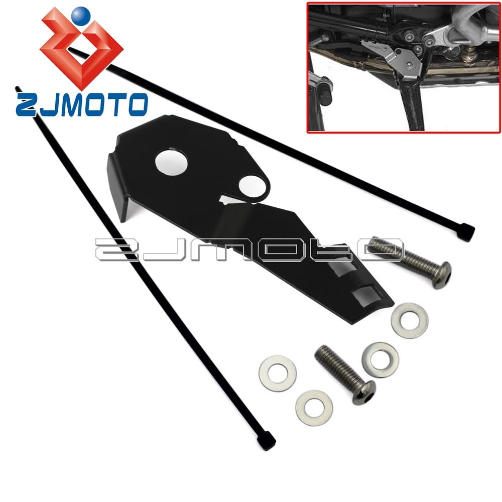Protector lateral del interruptor del soporte lateral de la motocicleta para BMW R1200GS LC R1200GS ADV 14-16 cubierta negra/plateada del interruptor del Motor