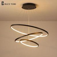 Светодиодный ная современная люстра Colgante, потолочный светильник с кольцами для гостиной, столовой, осветительный прибор
