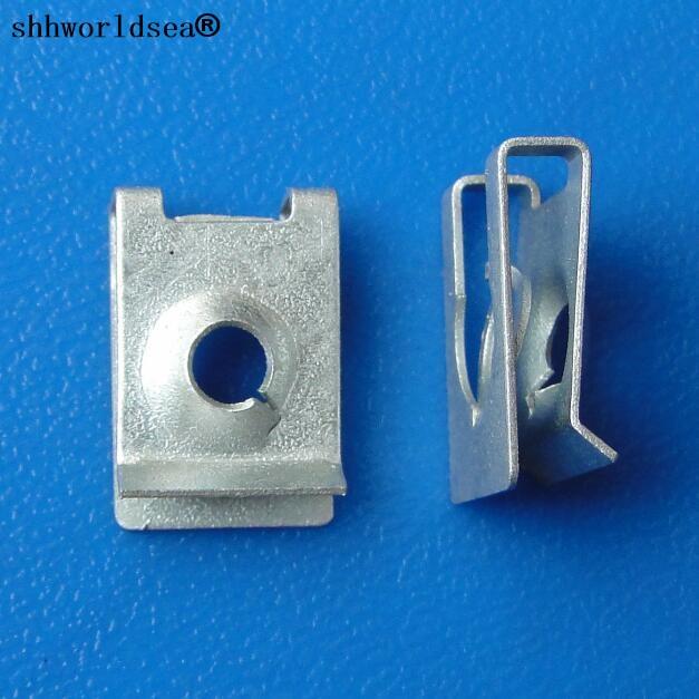 Shhworldsea-pince à repasser en forme de u   Blanc galvanisé 100 pièces, fixation métallique de voiture, clip de fixation automobile