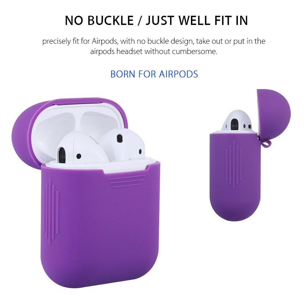 Funda fina antideslizante Antipérdida a prueba de golpes funda para auriculares funda protectora de silicona funda para teléfonos accesorios para AirPods