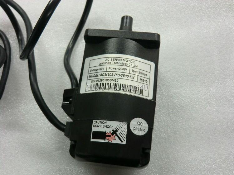 Leadshine ACM602V60  200W Brushless AC Servo Motor,with 2500 -Line Encoder and 4,000 RPM   Speed