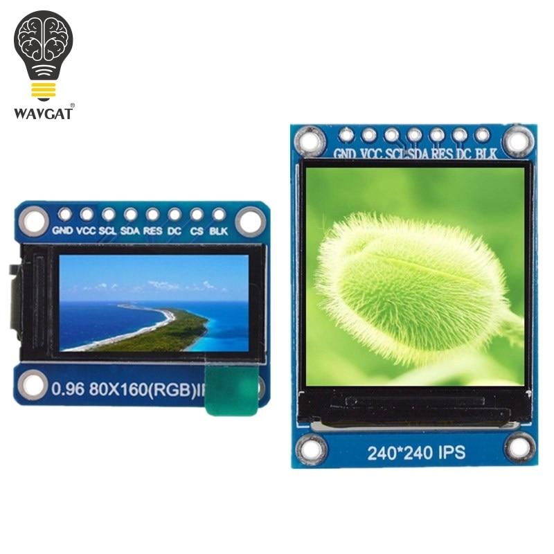 WAVGAT TFT дисплей 0,96/1,3 дюйма IPS 7P SPI HD 65K полноцветный ЖК-модуль ST7735/ST7789 Привод IC 80*160 240*240 (не OLED)