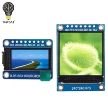 WAVGAT écran TFT 0.96/1.3 pouces IPS 7P SPI HD 65K Module LCD couleur ST7735/ST7789 lecteur IC 80*160 240*240 (pas OLED)