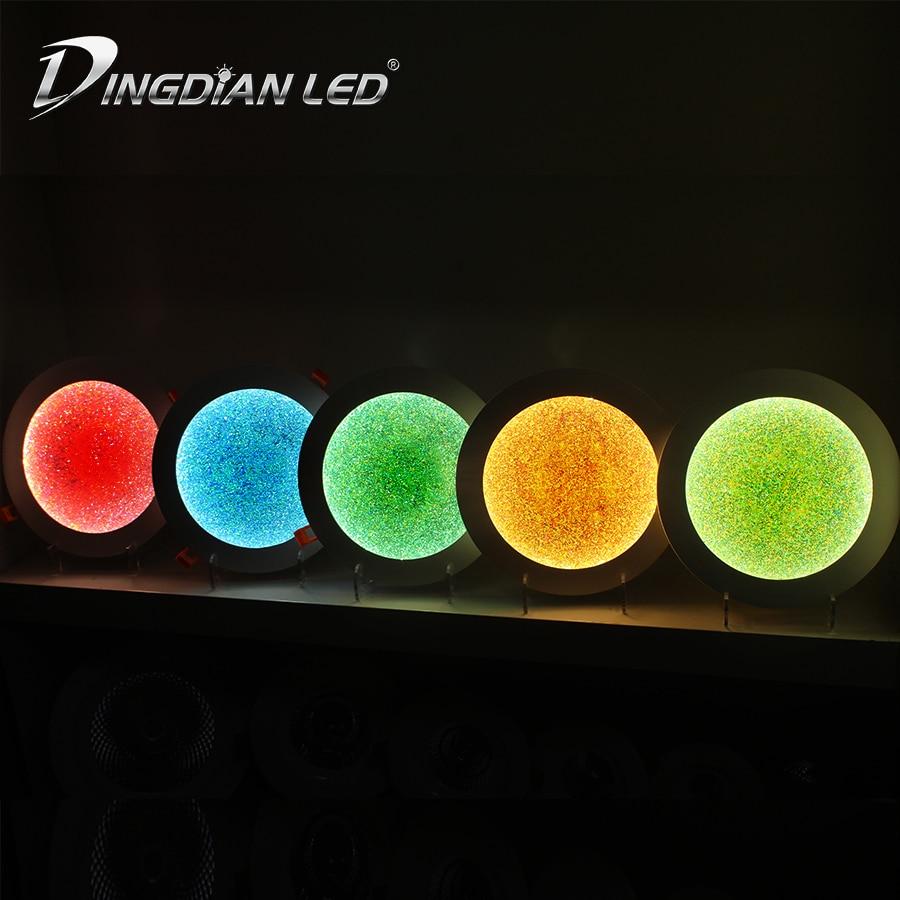 LED Downlight Modern Indoor Spot LED 6 Color 220V 8W 12W 18W 24W Recessed Mounted Panel Light Kitchen Bedroom Cabinet LED Lamp