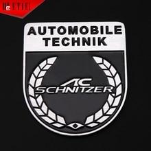 ETIE AC Schnitzer Abzeichen 3D Automobil Logo Embleme Kühlen Geändert Auto Styling Ganzen Körper Motor Zubehör Auto Aufkleber Wrap Metall