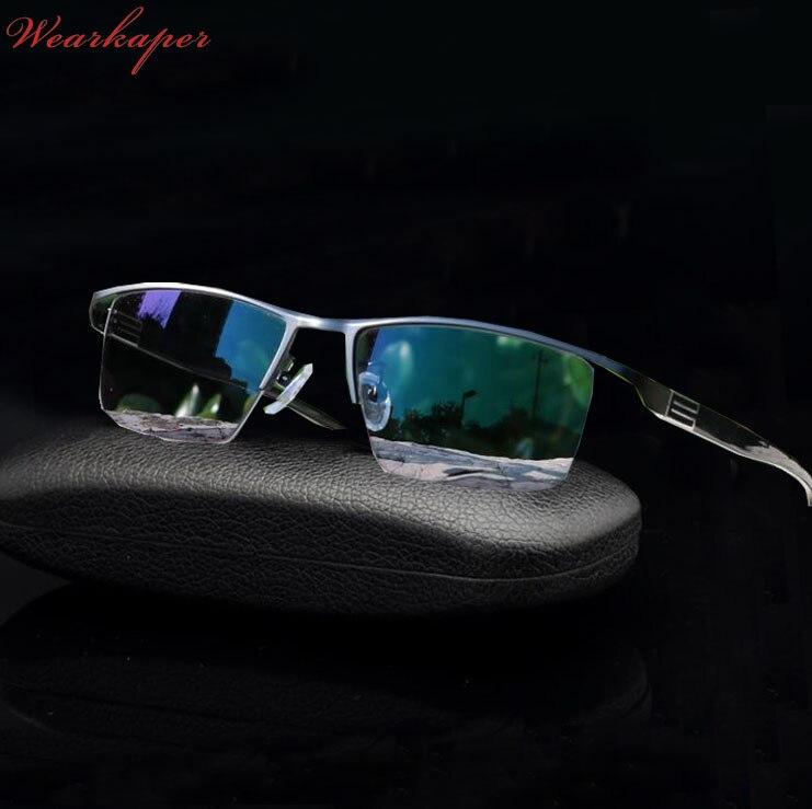 Солнцезащитные очки WEARKAPER, фотохромные очки для чтения с чехлом из титанового сплава