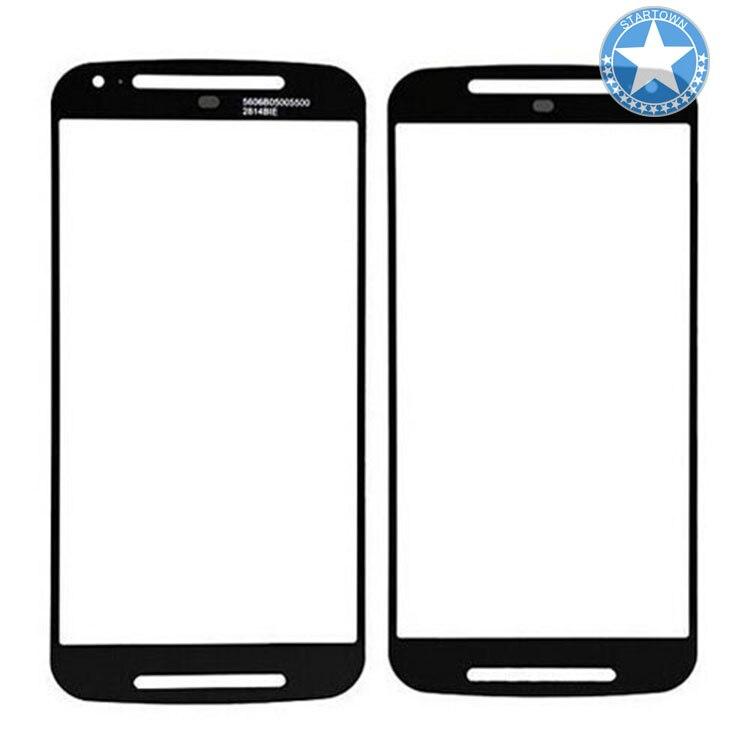 Negro parte superior frente exterior lente de la pantalla de vidrio de repuesto para Motorola Moto G 2nd Gen G2 G + 1 XT1068