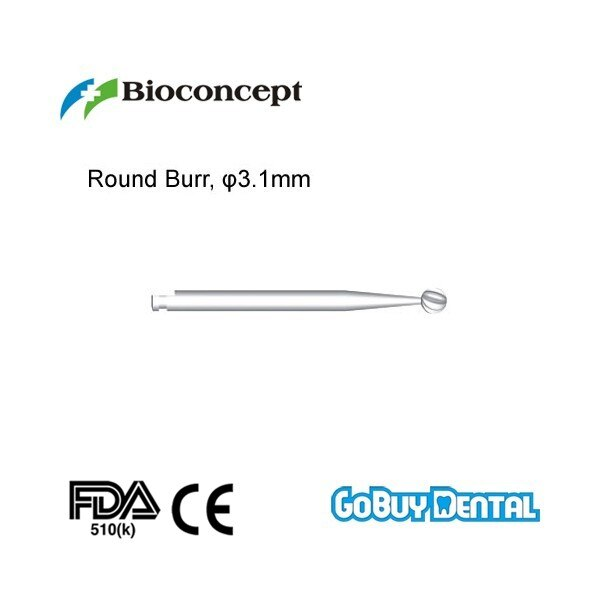 Instrumentos de implante Dental compatibles con Straumann rebabas redondas, D3.1mm