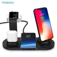 3 in 1 충전 도크 홀더 apple watch iphone 11 pro xs xr 7 8 plus airpods pro 무선 충전기 스탠드 스테이션 마운트베이스