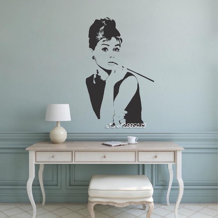 Femme Silhouette autocollant Mural amovible autocollant Mural chambre décoration de la maison bricolage vente chaude 2020 mur Art salon Mural SA770