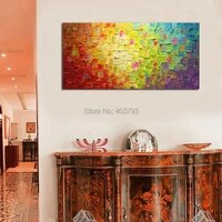 seekland wall art modern abstract handmade oil painting texture large canvas art artwork no frame for living room home decor