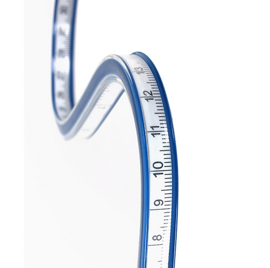 30/40/50/60 CM Flexible Curve Ruler Vinyl Plastic Drawing Paint Draw Bendy Curve Mesure Drafting For School Student Supplies