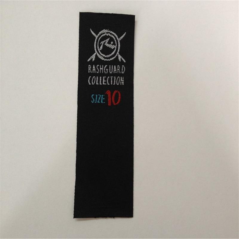 Wholesale 75D High Density Garment Black Satin Woven Label Clothing Label