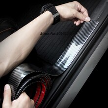 Porta do carro guarda pára-choques de fibra carbono borracha estilo protetor do peitoril da porta para toyota rav4 RAV-4 2019 2020 stylings carro