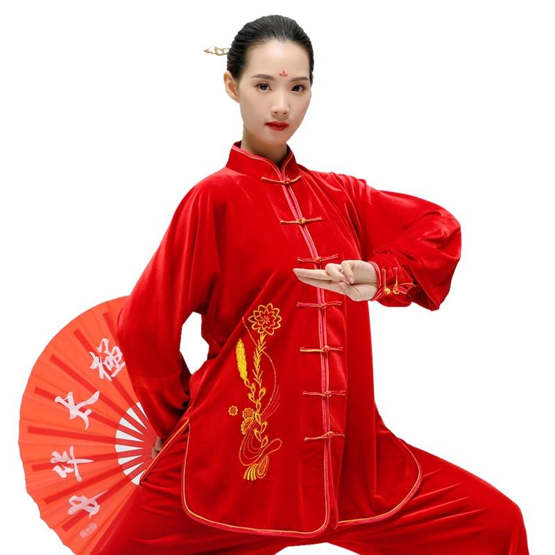 Одежда Tai Chi женский зимний китайский традиционный костюм Wushu ClothingKung Fu женский костюм для выступления на сцене|martial arts suit|kungfu clothingtai chi clothing | АлиЭкспресс