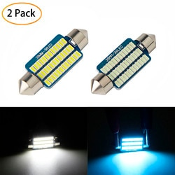 Kongyide Автомобильный свет 2 шт. синий/белый свет 39 мм 3014 36SMD светодиодный автомобильный купольная гирлянда для интерьера чтение карт лампочка 12V освещение салона