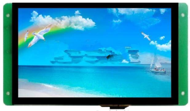 DMT10600C070_05W pantalla IPS de color verdadero de la configuración del puerto serie DGUS de 7 pulgadas
