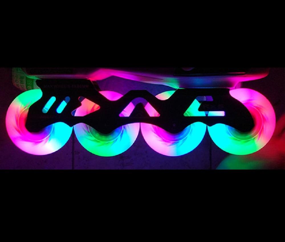 Kufun roller skate rodas rodas patins inline 8/SET no rolamento LED faísca de fogo flint pedra-90A 72mm 80 76mm mm