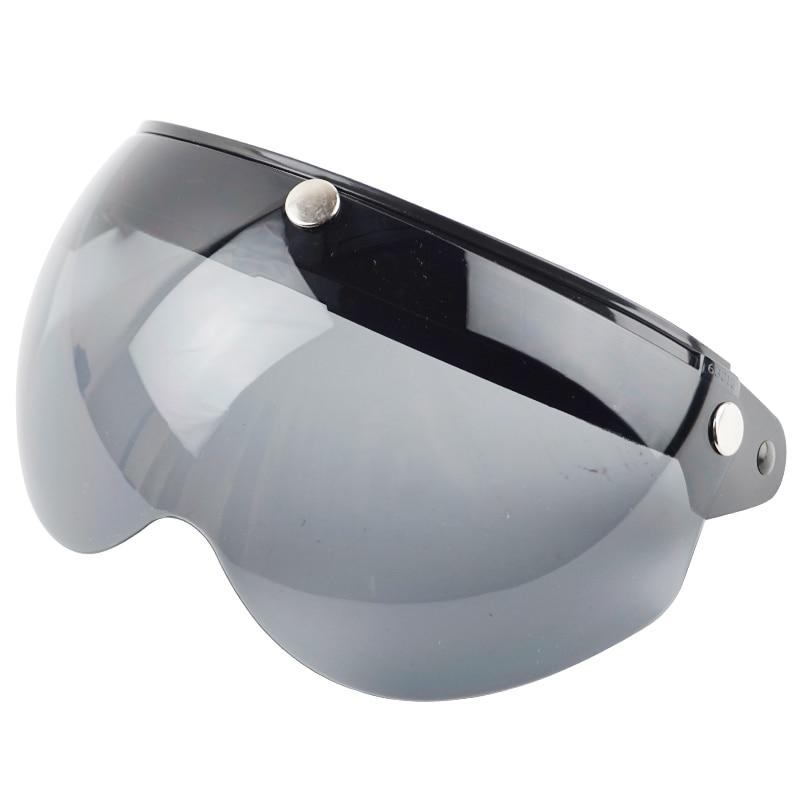 W gläser für vintage moto rcycle helm 3 snap vintage retro moto helme für LS2 TORC für Glocke für TT & CO für Arai helme