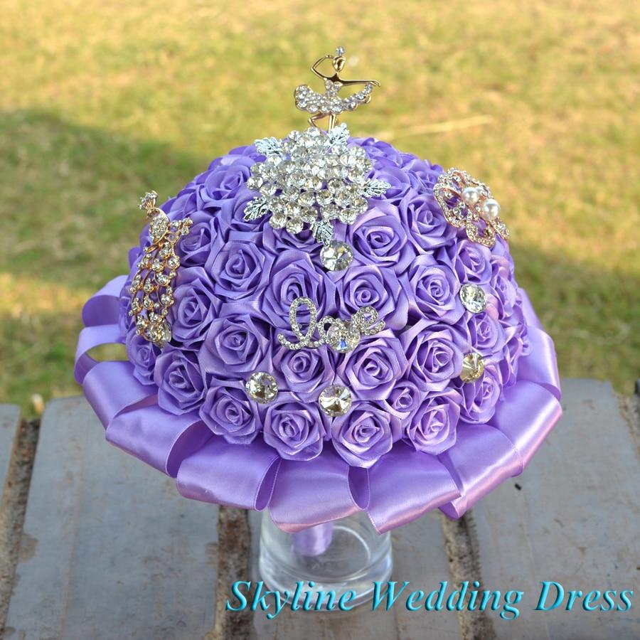 باقة زهور الزفاف الاصطناعية ، لوصيفات العروس ، أرجواني فاتح ، رائعة ، لحفلات الزفاف ، الكريسماس ، مجموعة جديدة
