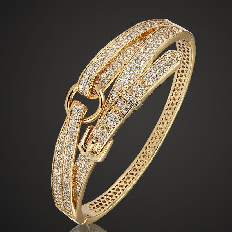 Zlxgirl, brazalete de cobre a la moda para hombres, joyería de marca de lujo, brazalete de amor y pulsera, la mejor pulsera de Zirconia, accesorios