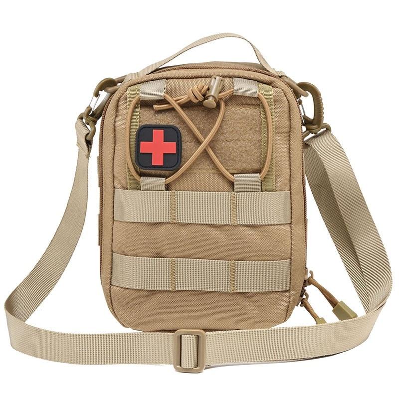 Conjunto médico supervivencia táctico Camping emergencia vacío botiquín de primeros auxilios riñonera militar viaje táctico Molle bolsa