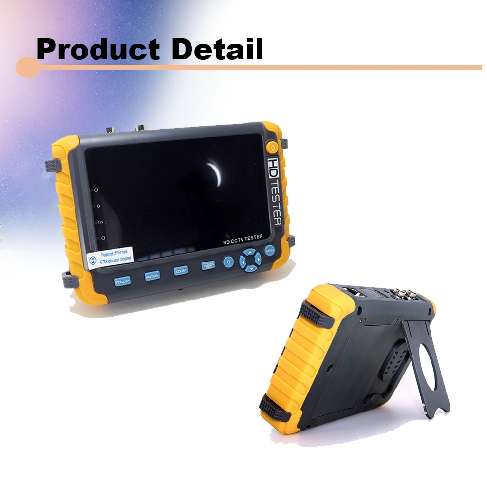NEW 5 inch TFT LCD HD 5MP TVI AHD CVI CVBS Analog Security Camera Tester Monitor All in One CCTV Tester VGA HDMI Input IV8W enlarge