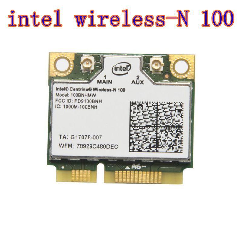 Intel Centrino Wireless-N 100 de 100BNHMW 802.11b/g/n 150 Mbps PCIe de mitad de semestre Mini tarjeta inalámbrica