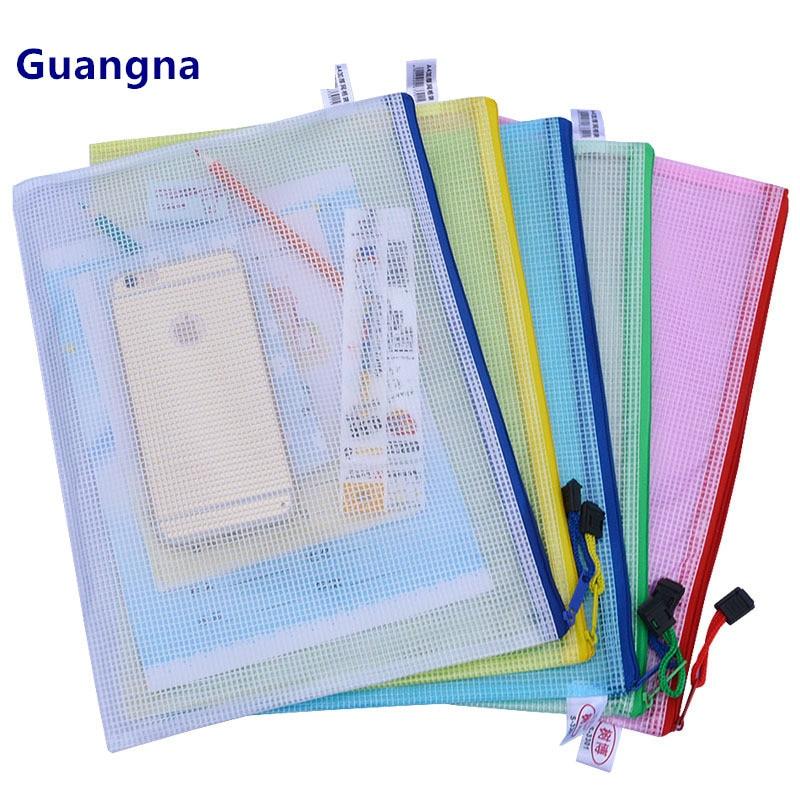 1 шт., водонепроницаемая пластиковая папка для документов на молнии, футляр для карандашей, Сумка для документов для офиса, студенческие принадлежности