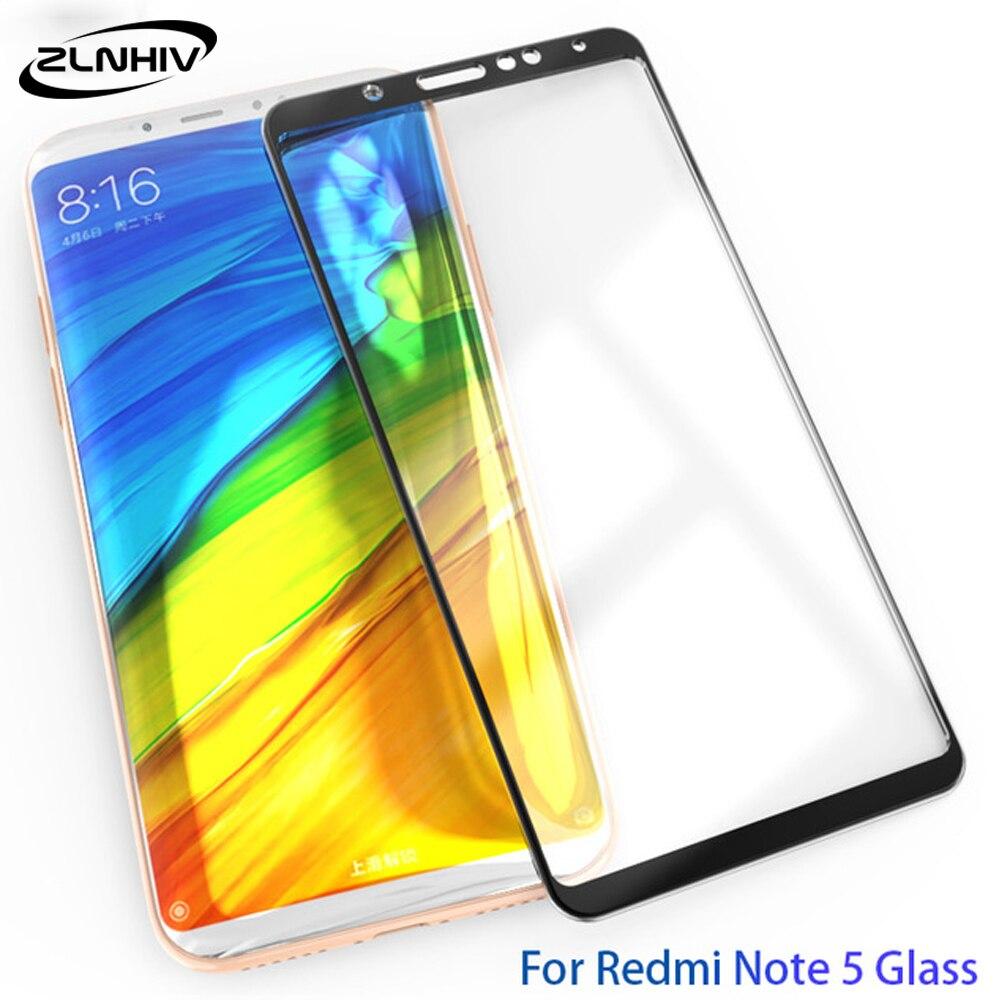 Cristal templado 3D ZLNHIV para xiaomi redmi note 5 pro plus 5A 4 4X S2 en cristal protector de pantalla del teléfono inteligente película protectora