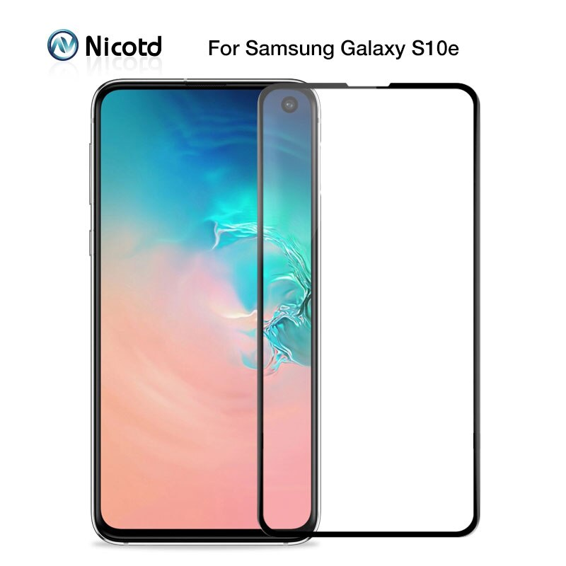 Закаленное стекло Nicotd для Samsung Galaxy S10e J4 Plus J6 J8 A6 A8 A7 2018 Защитная пленка для экрана M20 M30 A30 A50