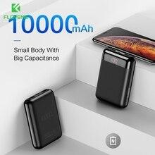 FLOVEME 2 Ports 10000mAh Mini Power Bank Lade Ladegerät für Telefon Pad Tragbare LED USB Ladegerät für Xiaomi Samsung cargador
