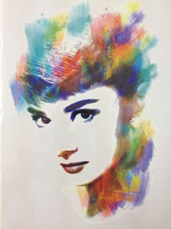 Audrey Hepburn caliente colorido Sale21 X 15 CM tatuaje temporal PEGATINAS ARTE corporal a prueba de agua #91