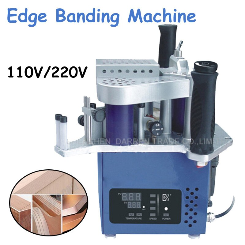 110V/220V Manual Edge Banding Machine with Speed Control Portable Edge Bander Model Signal Unit with CE/ English Manual KM10