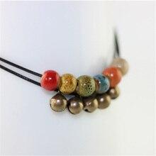 Double Weave Rope Bells Charm Anklets Ceramics Beaded Pendant Sandals Leg Bracelet Foot Anklet Bracelets For Women Chain Jewelry