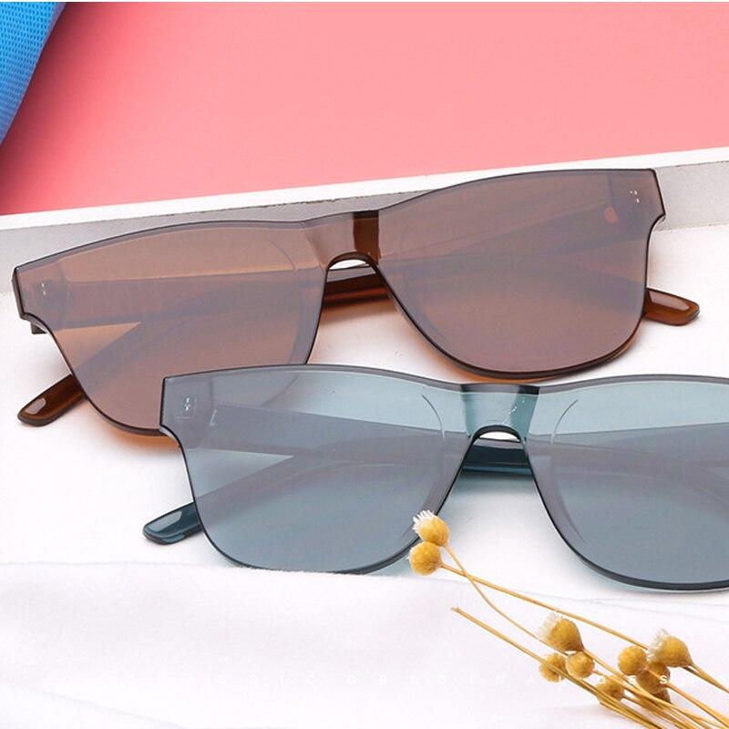 Samjune Новые квадратные цельные линзы солнцезащитные очки для женщин прозрачные пластиковые мужские стильные солнцезащитные очки прозрачны...
