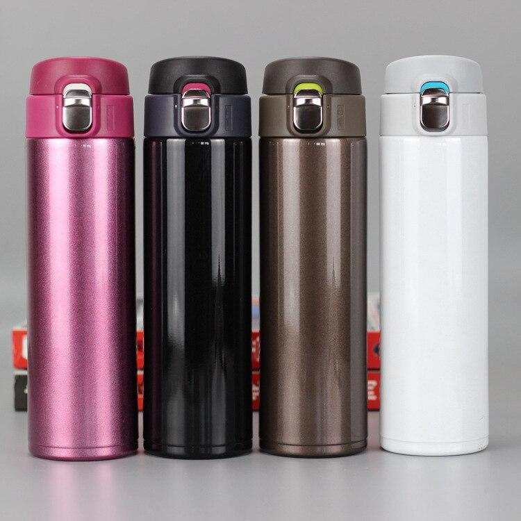 Mode Reise Becher 500ml Tee Kaffee Becher Wasser Vakuum Tasse Thermos Edelstahl Tumbler Thermocup Reise Trinken Flasche