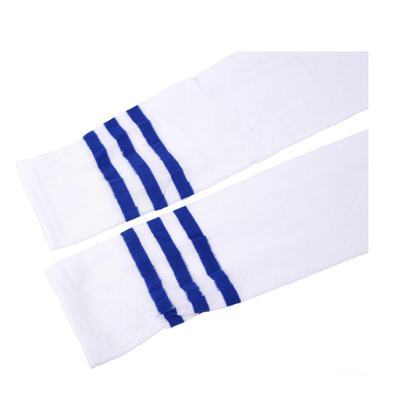 Носки без пятки в полоску темно-синего цвета для регби, спортивные гольфы