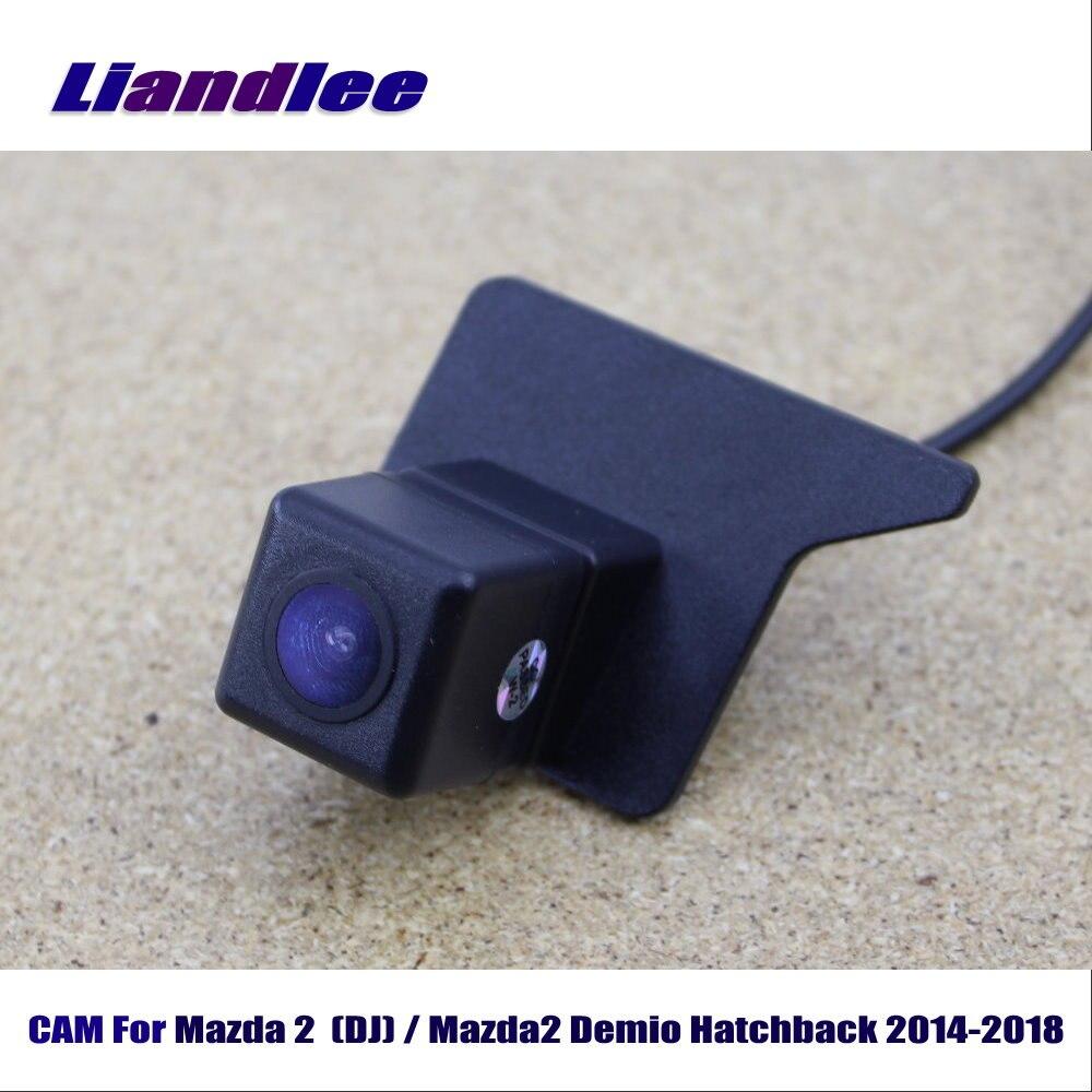 Cámara de marcha atrás de coche Cámara LiandLee para Mazda 2 (DJ)/Mazda2 Demio Hatchback 2014-2018/cámara de aparcamiento de respaldo HD CCD visión nocturna