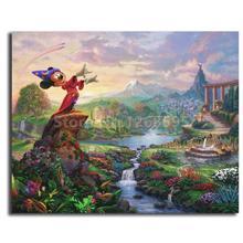 Thomas Kinkade fantaisie Minnie   Affiche de toile et toile imprimée, tableau décoratif pour décor de salon, de maison