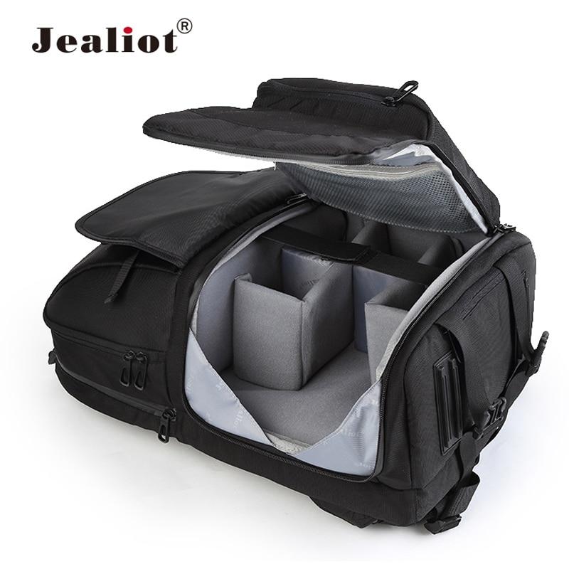 Mochila multifuncional Jealiot para cámara, bolsa para fotos, bolsa con eslinga, estuche para lentes de vídeo digital, impermeable, a prueba de golpes para canon 80d 60d