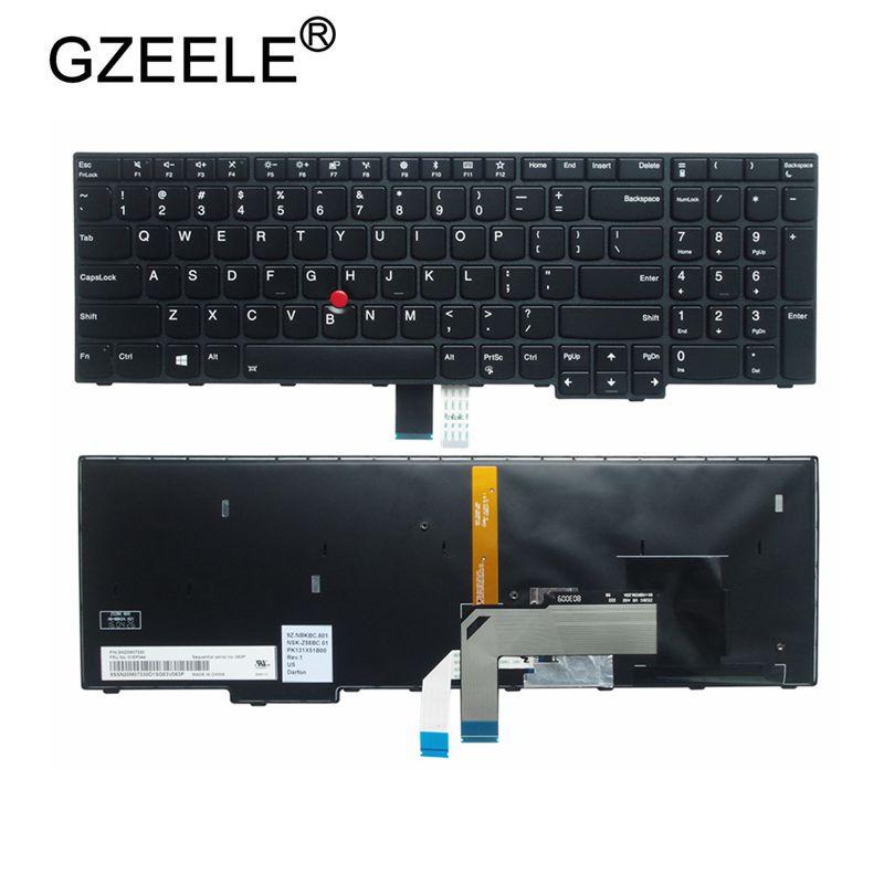 GZEELE جديد ل IBM لينوفو ل ثينك باد S5 2nd الجيل S5-2ND E560P نوع 20JA PK131X51B00 الولايات المتحدة الخلفية لوحة المفاتيح