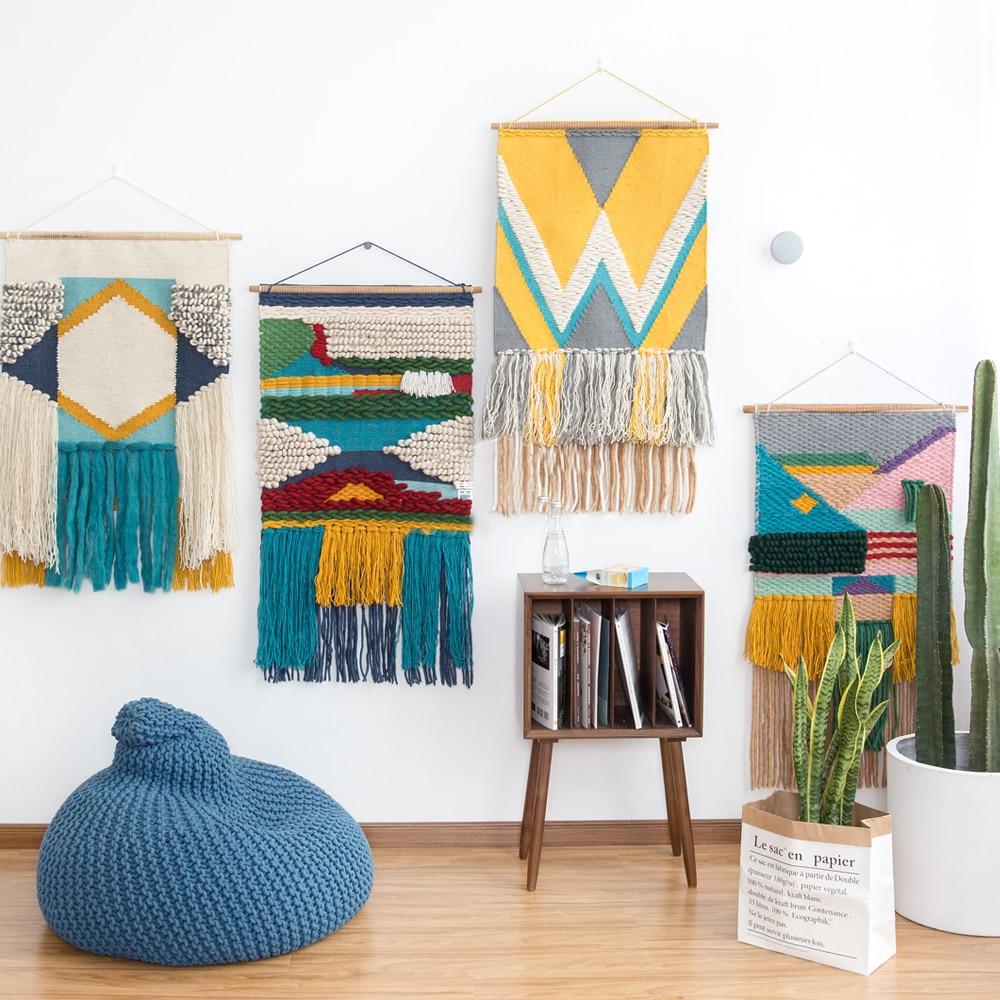 Libre ship100 % lana alfombra hecha a mano geométrica tapiz alfombra de rayas moderno diseño contemporáneo Kilim Estilo nórdico