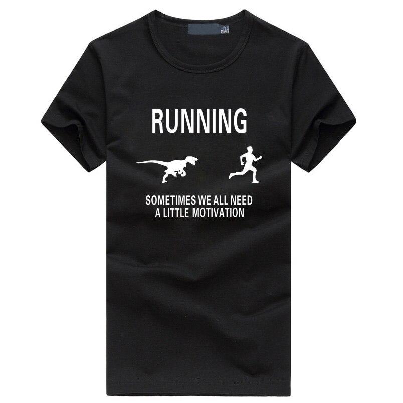 Harajuku мотивация homme мужская футболка Забавный фитнес динозавр футболка для мотивации Runner homme хип-хоп черная футболка брендовая одежда